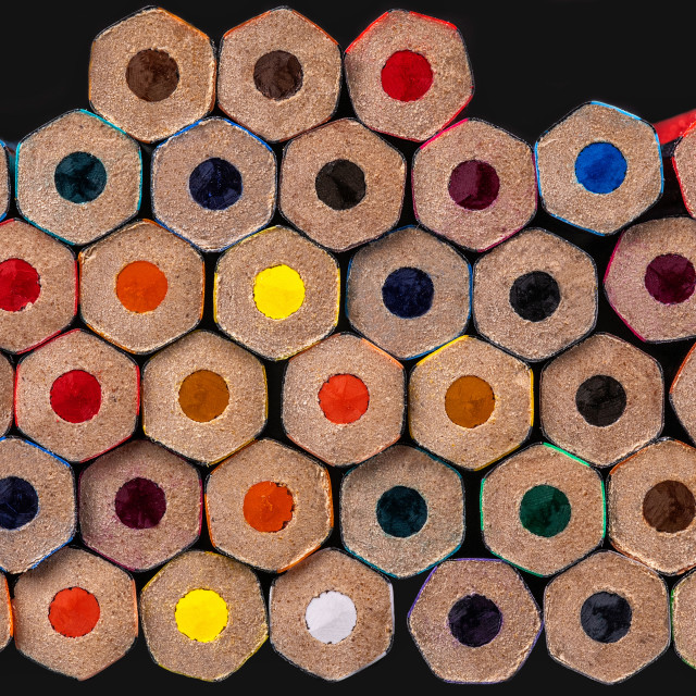 """Coloured Pencil Backs"" stock image"