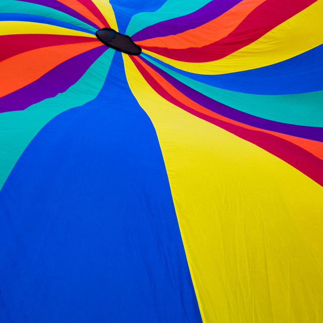 """Detail of a colorful parachute"" stock image"