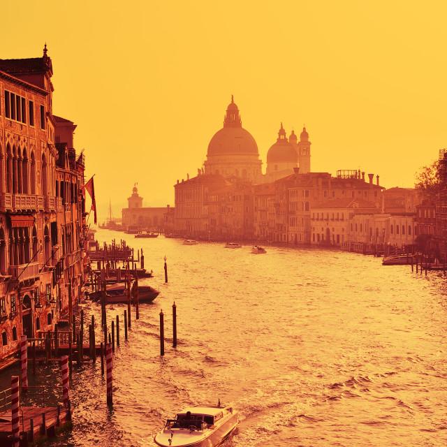 """""""Santa Maria Della Salute, Venice Italy."""" stock image"""