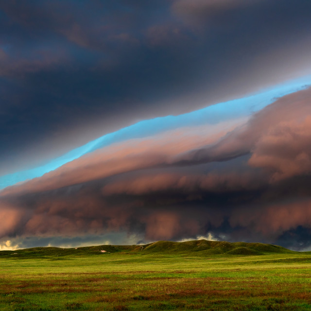 """Dramatic storm clouds"" stock image"