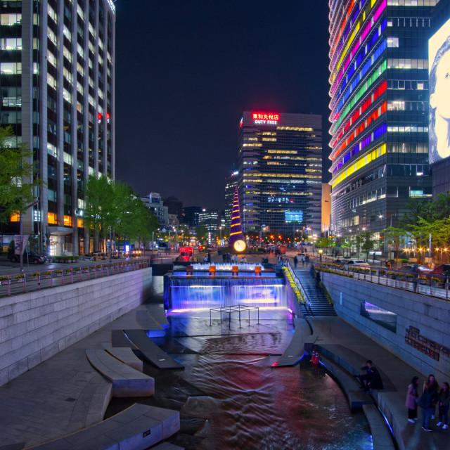 """""""Cheonggyecheon Stream"""" stock image"""
