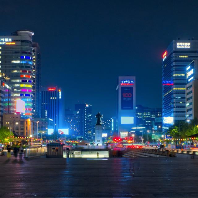 """Seoul at night"" stock image"