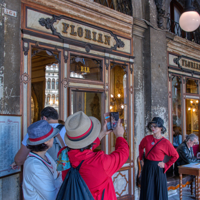 """The legendary Cafe Florian in Piazza di San Marco."" stock image"