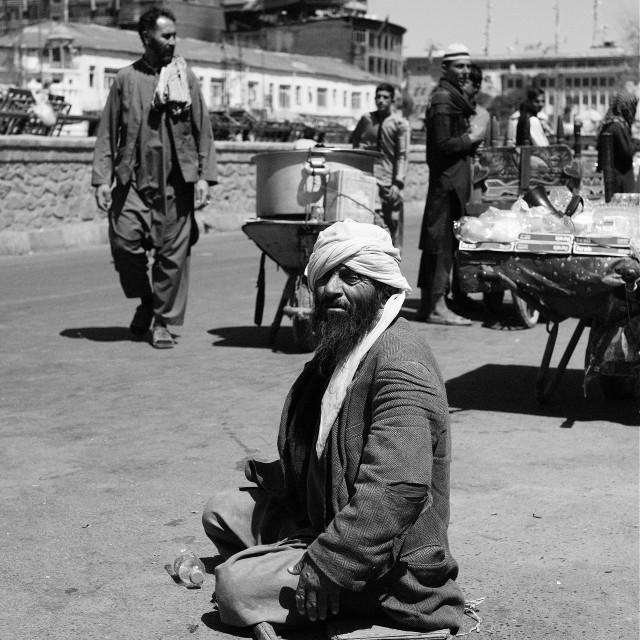 """The Beggar"" stock image"