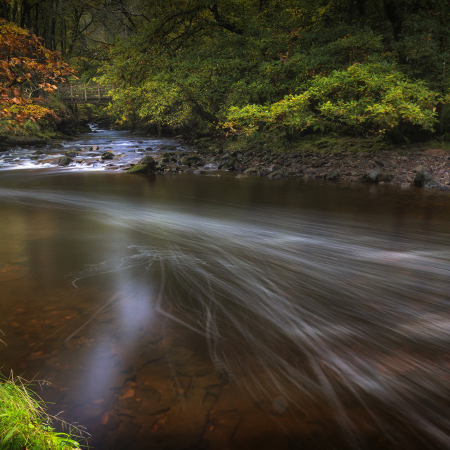 """The Afon Pyrddin River"" stock image"