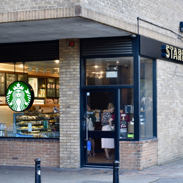 """Starbucks on Southbank"" stock image"