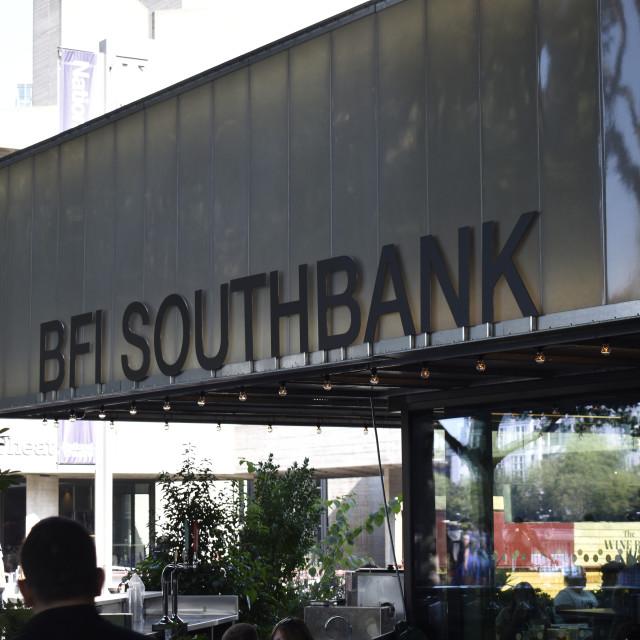 """BFI Southbank sign"" stock image"