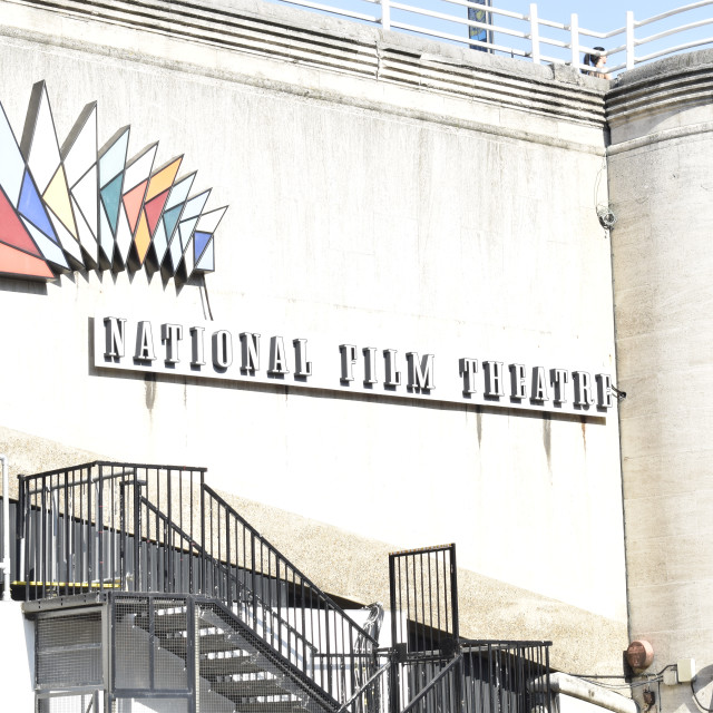 """""""National Film Theatre Sign"""" stock image"""