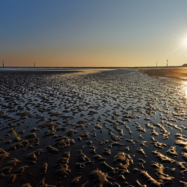 """Ouistreham sunrise"" stock image"