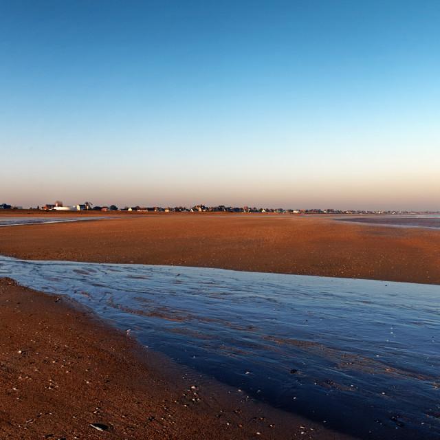 """Ouistreham beach"" stock image"