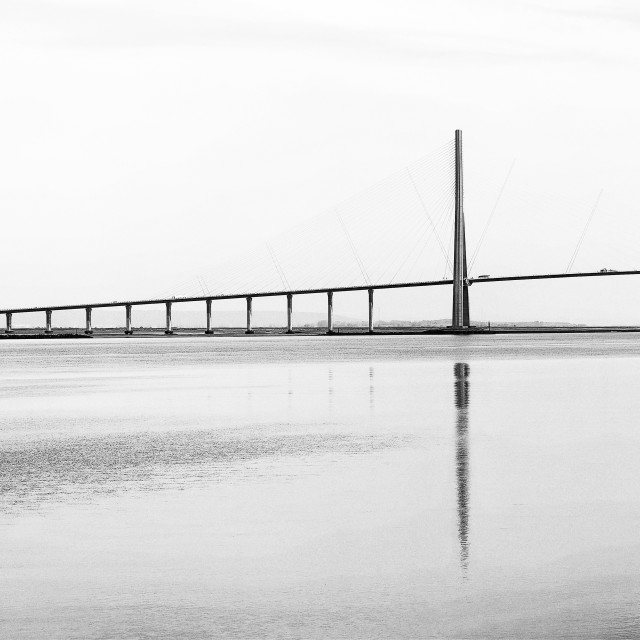 """The pont de Normandie bridge"" stock image"