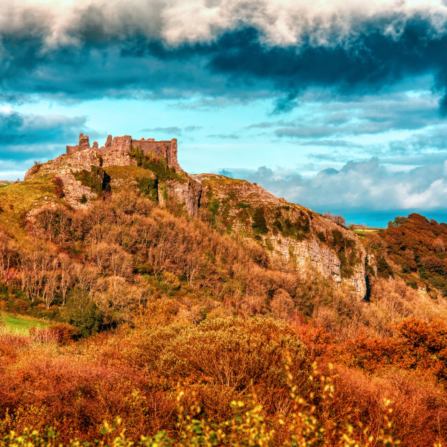 """Carreg Cennen Castle"" stock image"