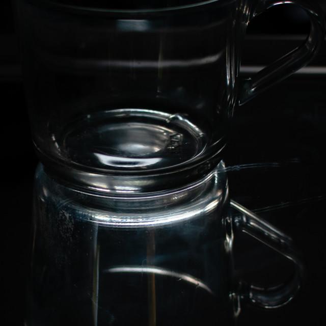 """""""Glass coffee mug"""" stock image"""