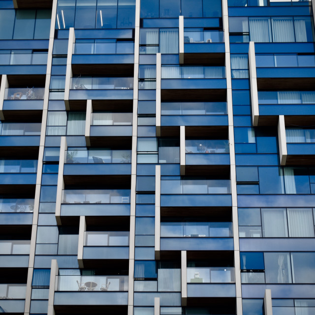 """""""Concrete glass and metal building"""" stock image"""
