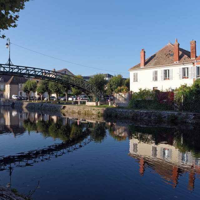 """Montargis canal"" stock image"