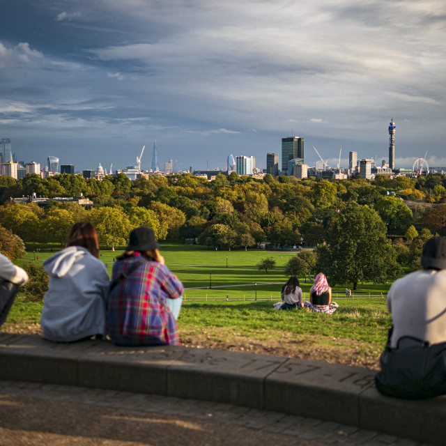 """""""View from Primrose Hill"""" stock image"""