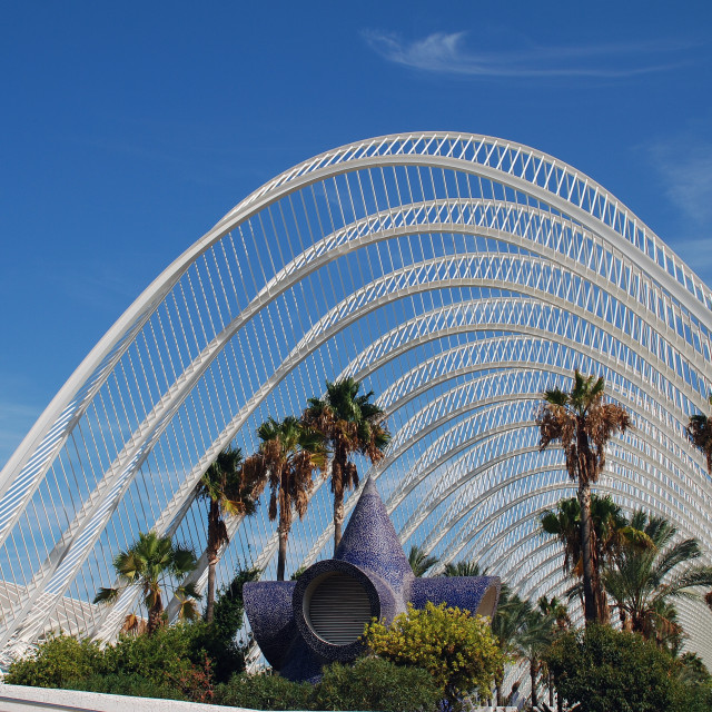 """""""The Umbracle in Valencia"""" stock image"""