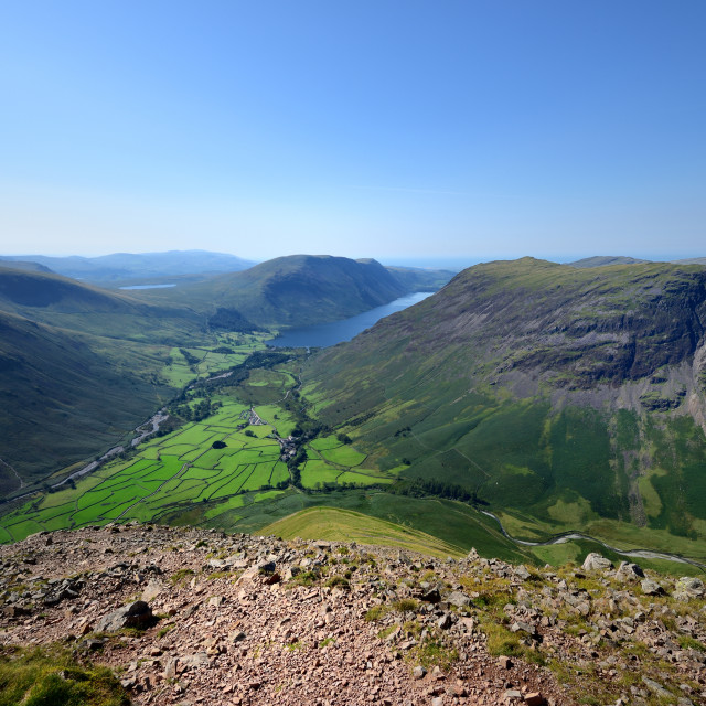 """""""Wasdale from the Highnose Head"""" stock image"""