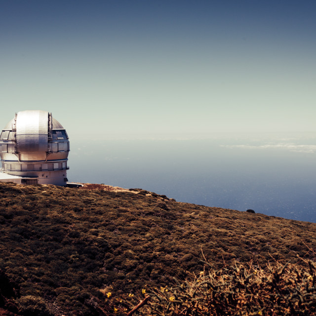 """""""Roque de los Muchachos Observatory"""" stock image"""