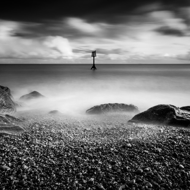 """Seafront long exposure"" stock image"
