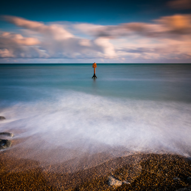 """Long exposure seascape"" stock image"