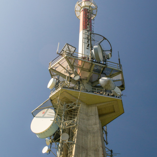 """Communications Mast at Kitzbuhelerhorn"" stock image"