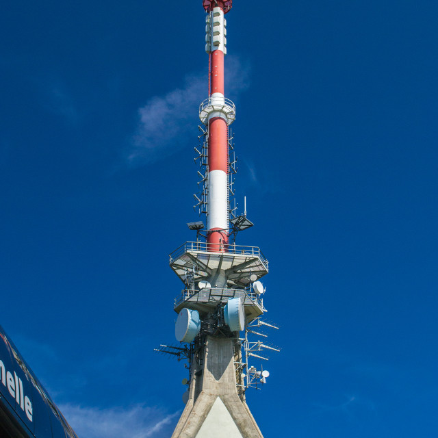 """Communications Mast on Kitzbuhelerhorn"" stock image"