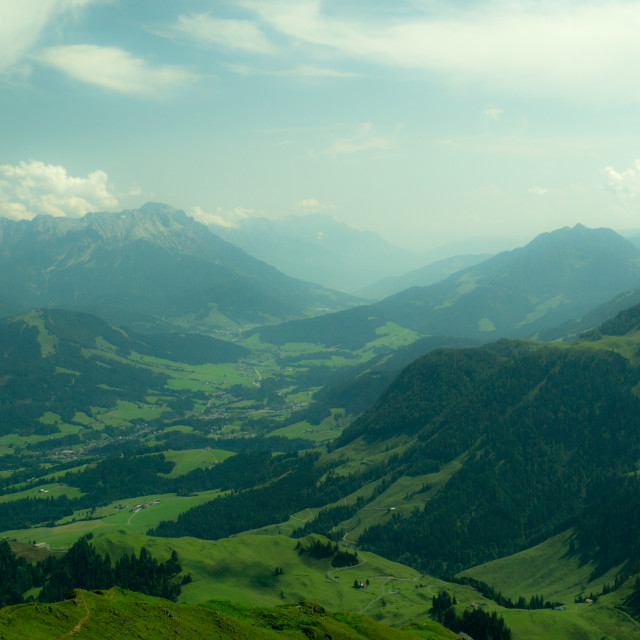 """Dreamy Alpine Valley"" stock image"
