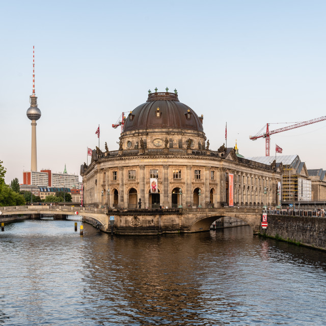 """Scenic view of Spree river and Museum Island in Berlin"" stock image"