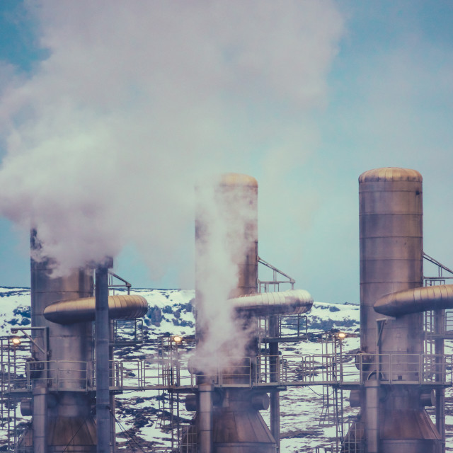 """""""Geothermal Power Station"""" stock image"""