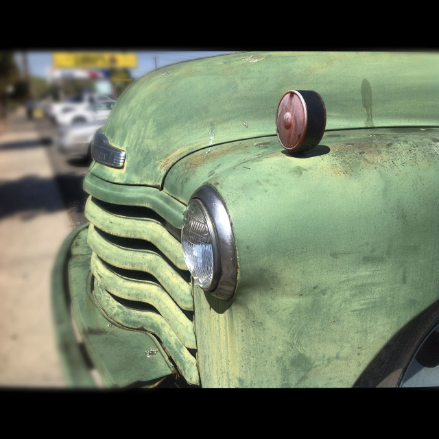 """Albuquerque, New Mexico, Old Town, Old Truck, 2015"" stock image"
