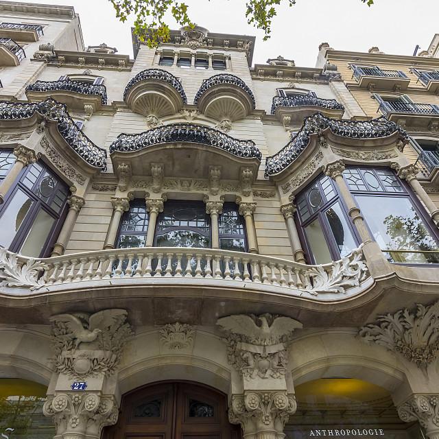 """Ornate Balconies."" stock image"