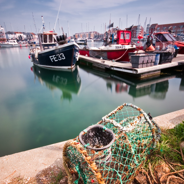 """Sovereign harbour, Eastbourne"" stock image"