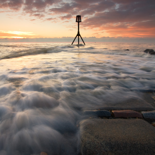 """Eastbourne Jetty sunrise"" stock image"