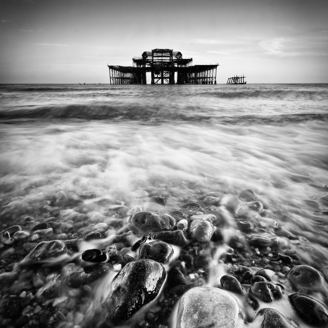 """Brighton West pier"" stock image"