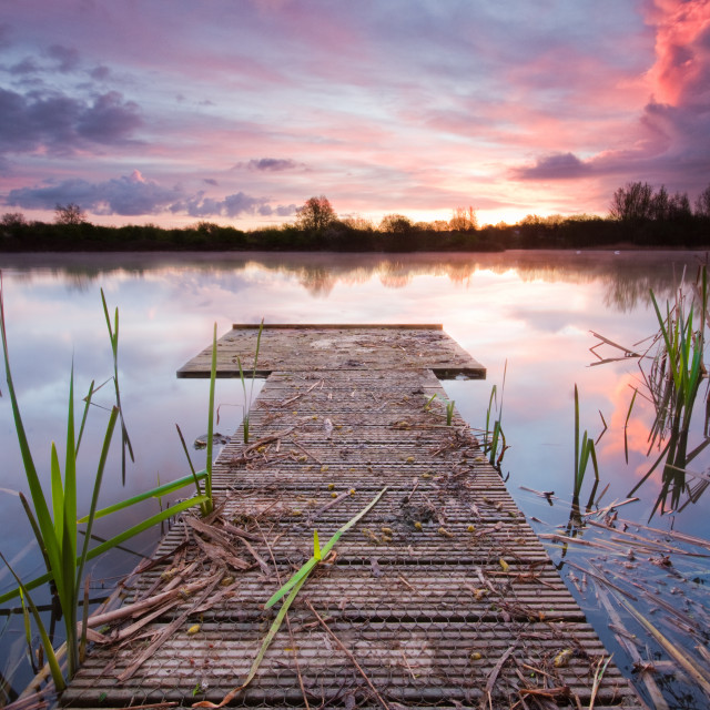 """Shinewater Park jetty"" stock image"