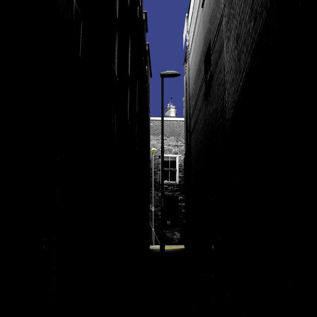 """""""Up the Dark Alleyway"""" stock image"""
