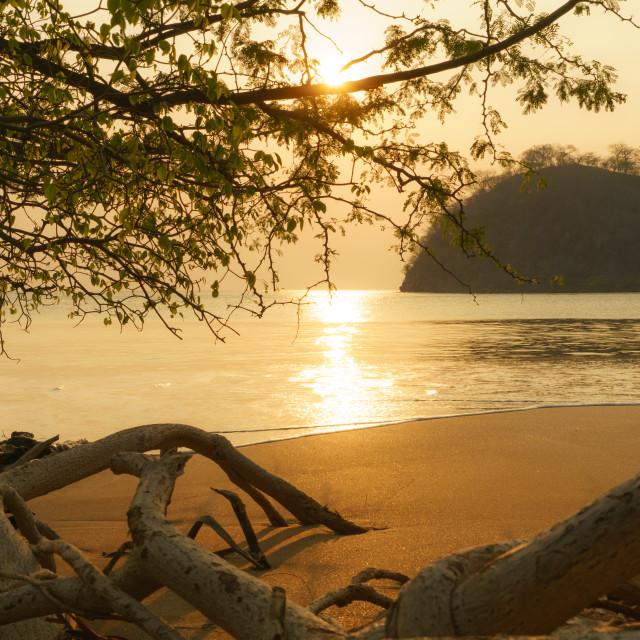 """Costa Rican Sunset"" stock image"