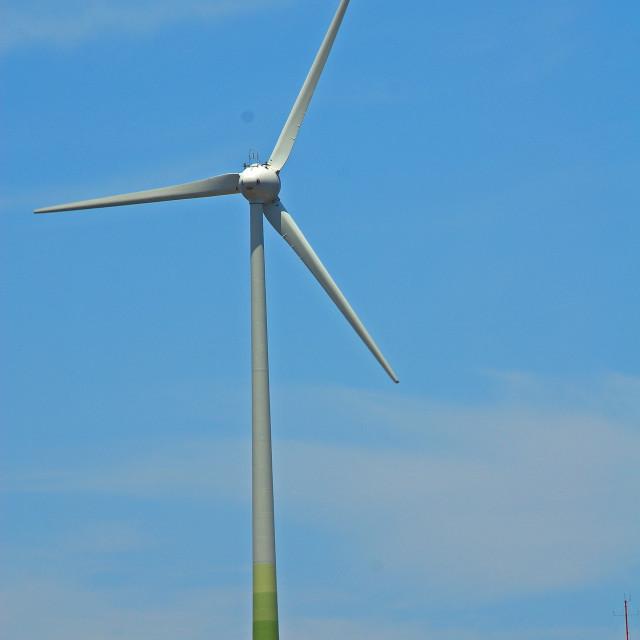 """Tilos wind turbine"" stock image"