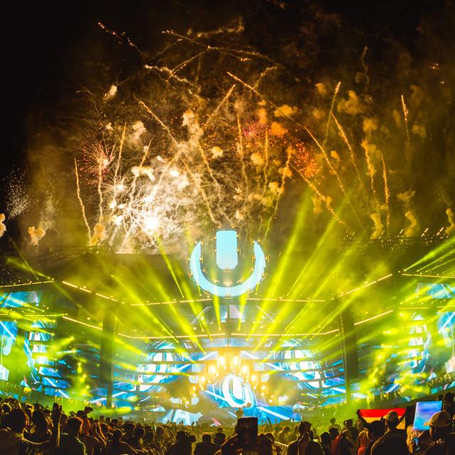 """Ultra Music Festival atmosphere"" stock image"
