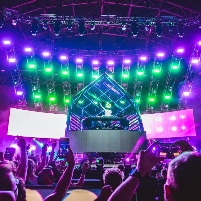 """Deadmau5 at Ultra Music Festival 2019"" stock image"