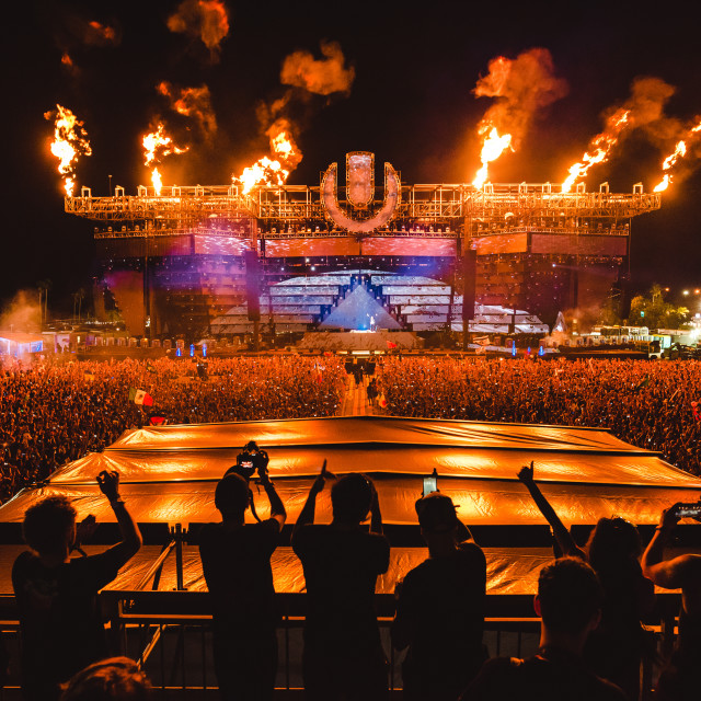 """Ultra Music festival mainstage"" stock image"