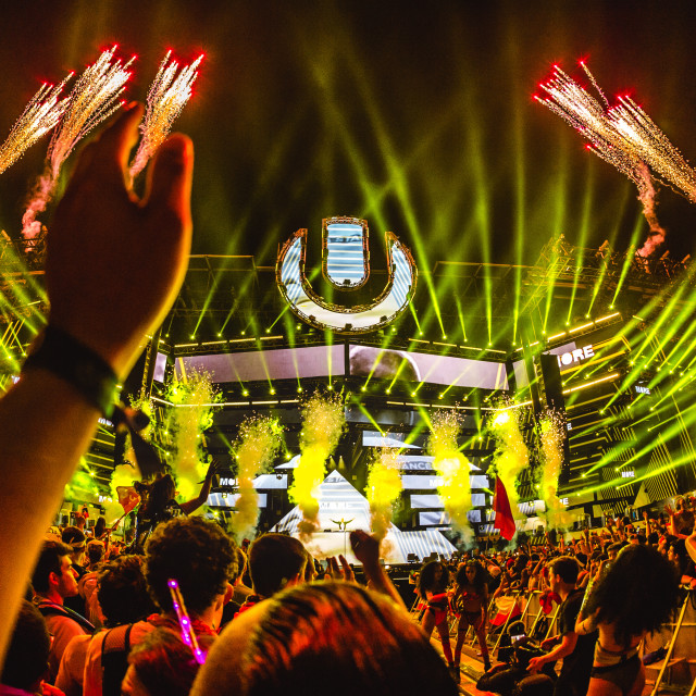 """Ultra MainStage fireworks"" stock image"