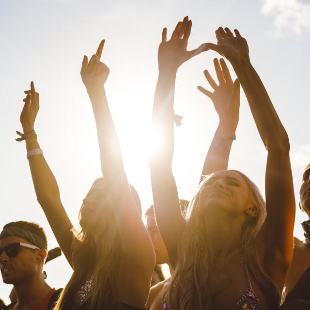 """Festival girls dancing"" stock image"