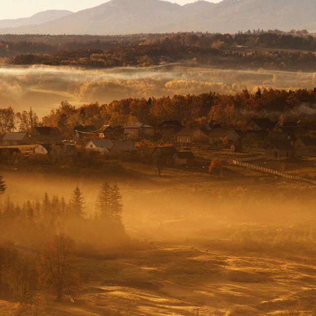 """""""Morning village"""" stock image"""