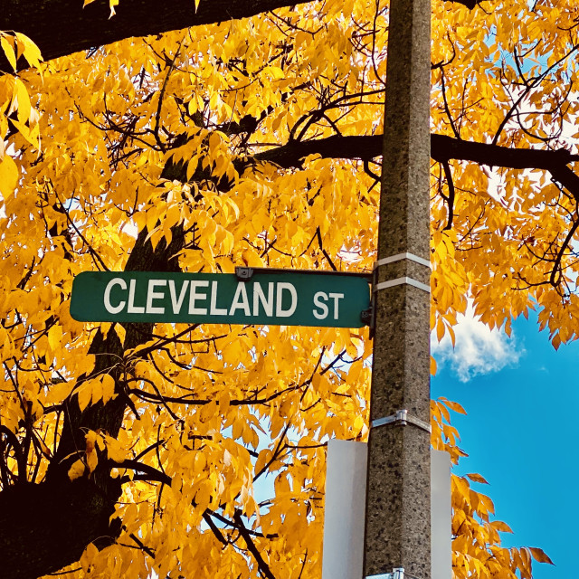 """Cleveland Street sign"" stock image"