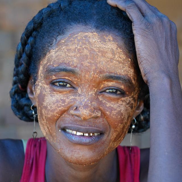 """Local people in Bekopaka village, Tsingy de Bemaraha National Park, Melaky..."" stock image"