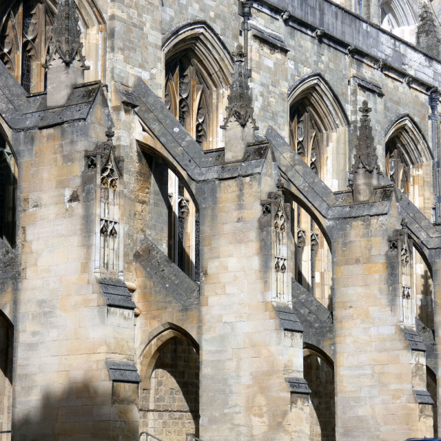 """Winchester Cathedral facade"" stock image"