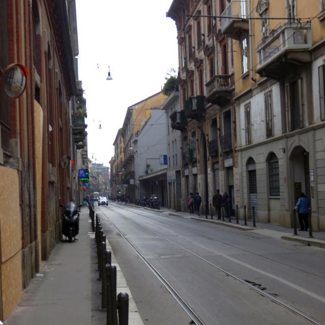 """""""Milan outskirts street"""" stock image"""