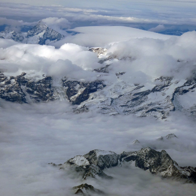 """Italian Alps from the air"" stock image"